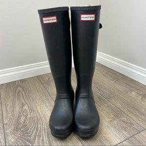 Hunter Original Back Adjustable Black Rain Boots